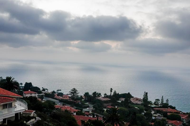 Big dramatic clouds over Palos Verdes Estates