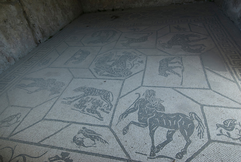 Mosaic floor at Ostia Antica, Italy
