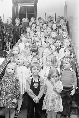 Prebendal School carol singing, Dec 1973