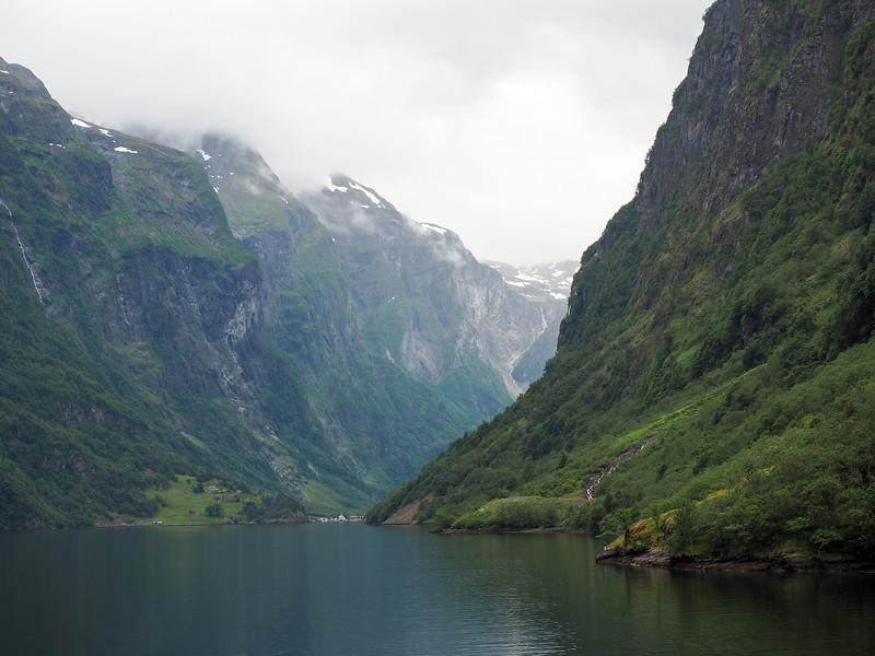 Sailing on the Nærøyfjord in Norway