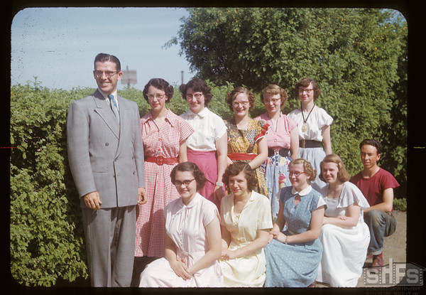 Charles Spencer and high school class. Aneroid. 06/12/1953