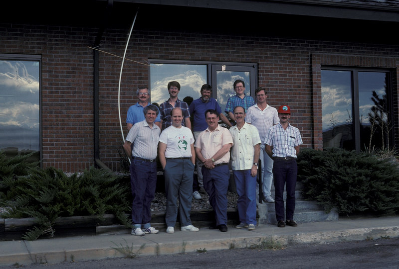 Back: Jim White, Jeff Zehr, ?,?, Chris Williams Front: Jan King, me, Tom Clark, Dick Daniels, and Jose Machao.