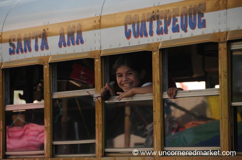 Girl on a Bus Window - Santa Ana, El Salvador