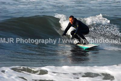 Surfing, Gilgo Beach, NY,  (4-28-07)