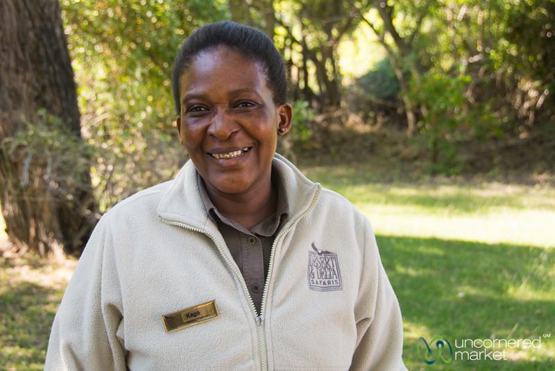 Kago, Camp Xakanaxa Friendliness - Botswana