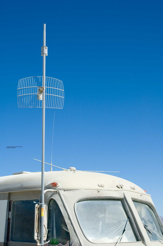 Antennas at Burning Man 2005