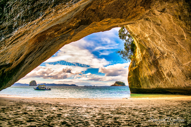 Cathedral Cove footprints in the sand