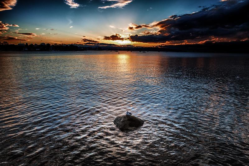 Sitting at Sunset