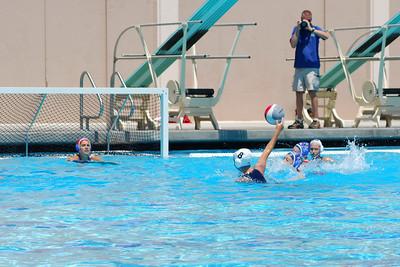 S & R Sport Junior Olympics 2009 - Platinum Division 14U Girls - Santa Barbara Water Polo Club vs Los Alamitos 8/1/09. Final score 6 to 4. SBWPC vs Los Al. Photos by Allen Lorentzen.
