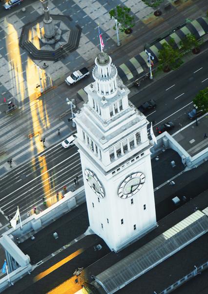 The San Francisco Ferry Building clocktower.