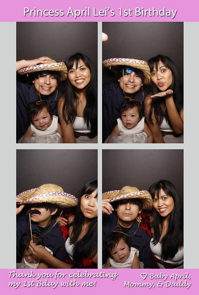 April Lei's 1st Birthday (Photo Booth)