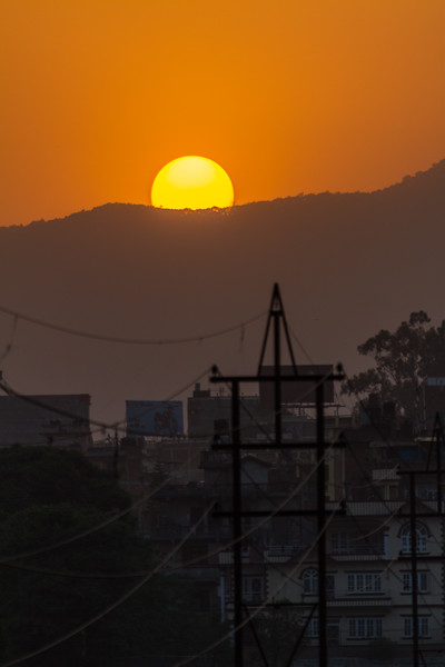 Sunset over mountains - Nepal