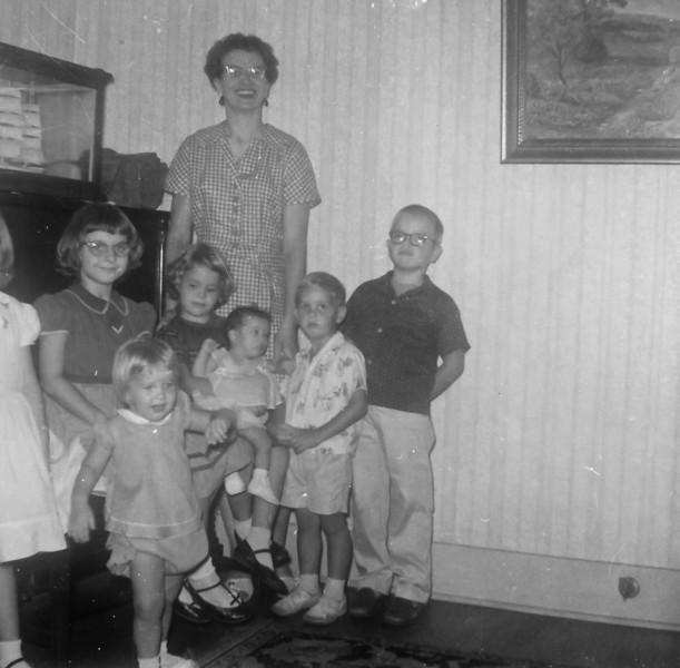 Maria Smock with Jan, Jeanne, John, Jim, Julie
