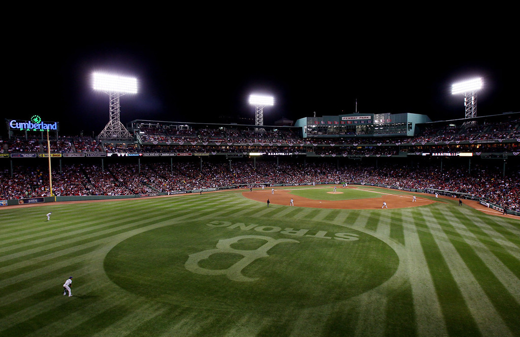 . BOSTON, MA - OCTOBER 05: A general view of Game Two of the American League Division Series between the Boston Red Sox and the Tampa Bay Rays at Fenway Park on October 5, 2013 in Boston, Massachusetts.  (Photo by Alex Trautwig/Getty Images)