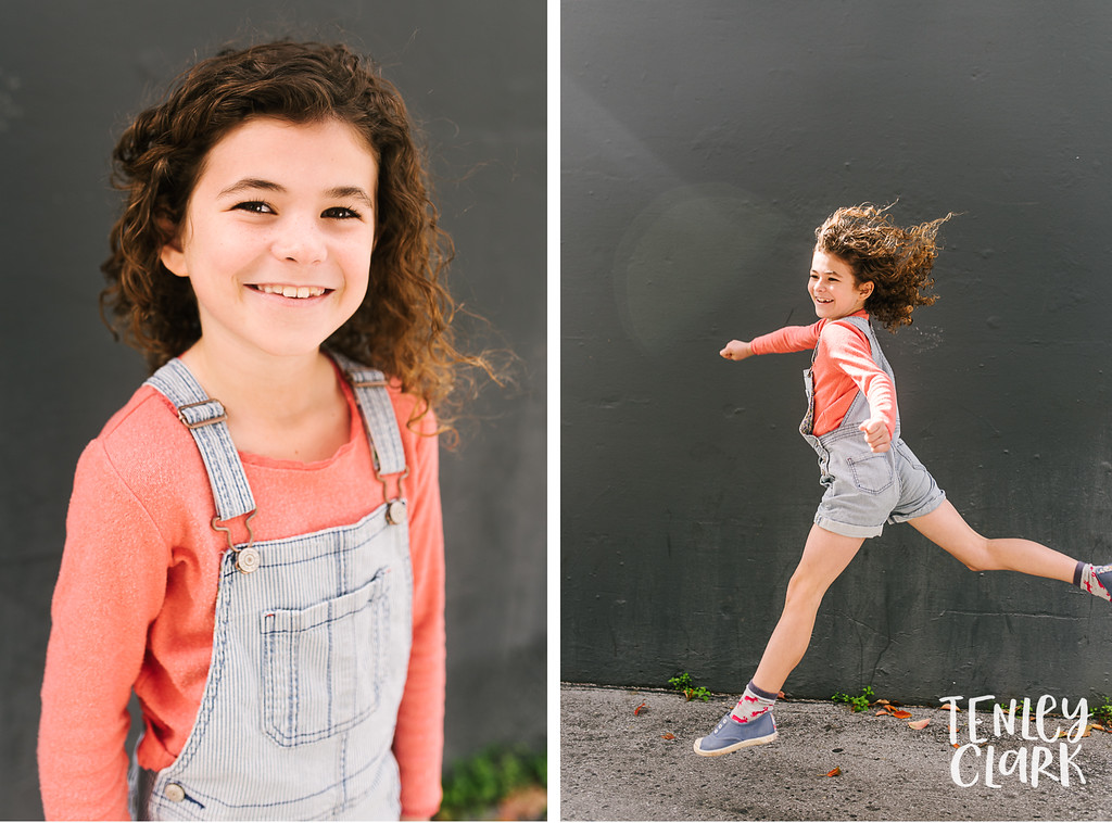 Cassidy. Bay Area kids sibling model headshot portfolio session for JE kids in Palo Alto by Tenley Clark Photography