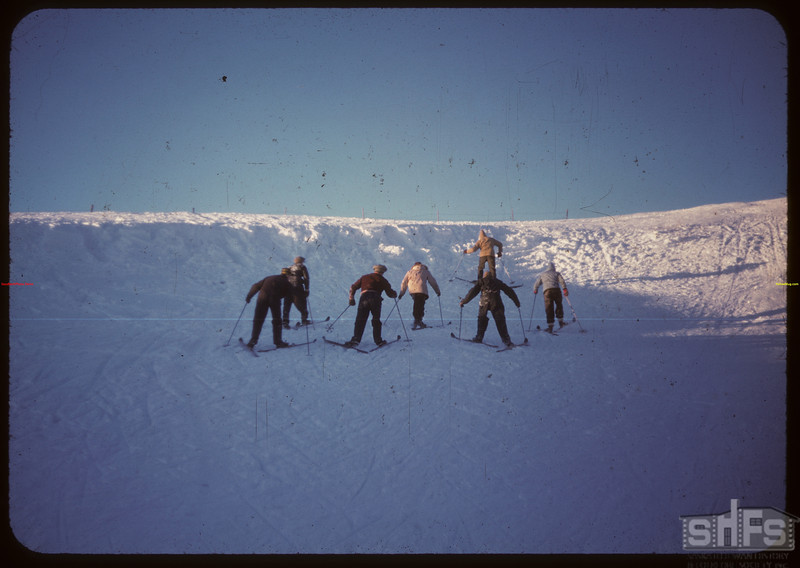 Climbing back up hill - Youth Training School..  North Battleford.  02/01/1948