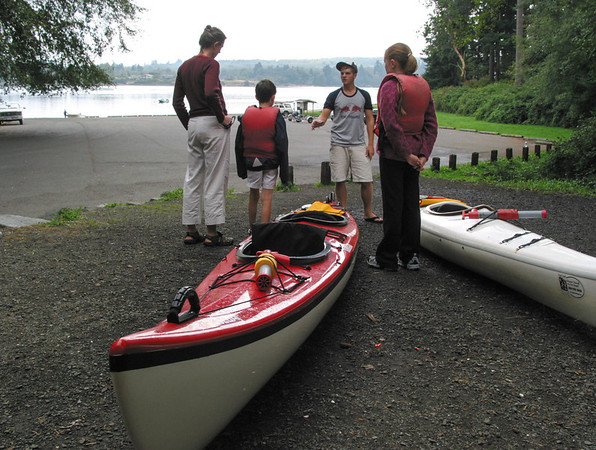 Kayaking at Vashon Island, September 2004
