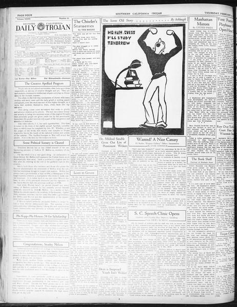 Daily Trojan, Vol. 23, No. 81, February 04, 1932