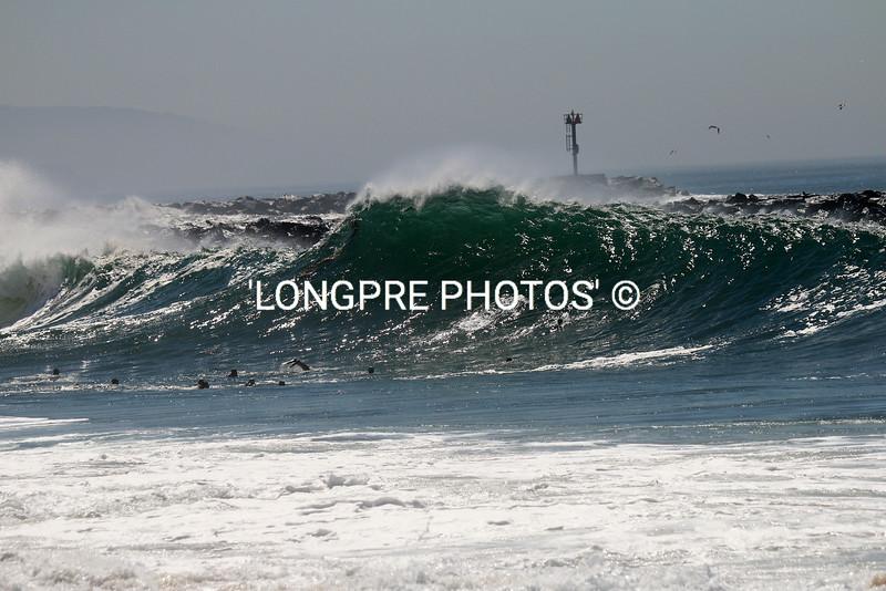 Wave along Newport JETTY....