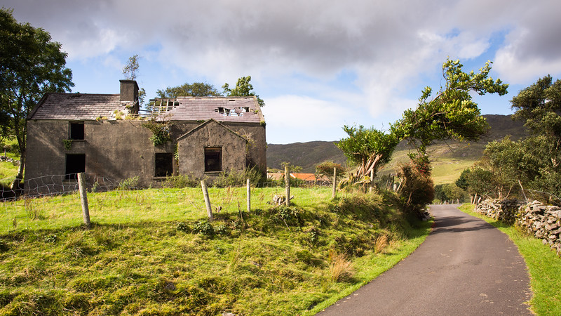 Ruined cottage in County Kerry