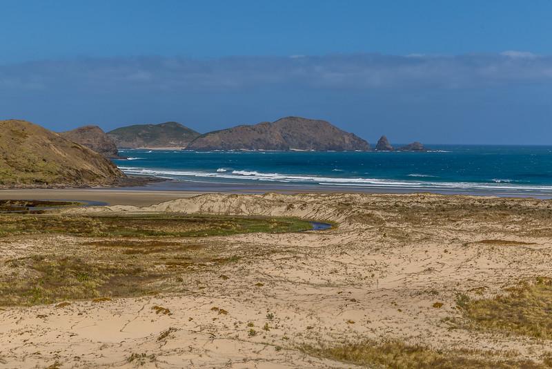 Blick auf Motuopao Island