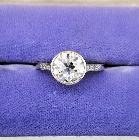 7.5mm OEC Moissanite Ring