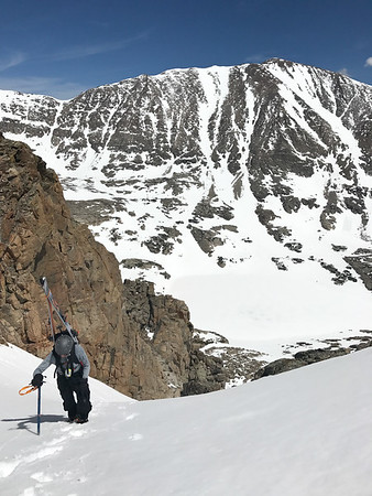 Skiing Little Pawnee Peak 6-4-17
