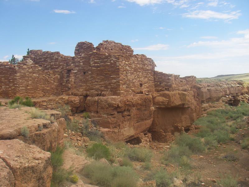 Wupatki Pueblo ruins, located about 15 miles north of Flagstaff, AZ.