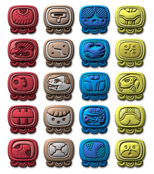 3D Maya Calendar Glyphs ~ Messagez.com.png