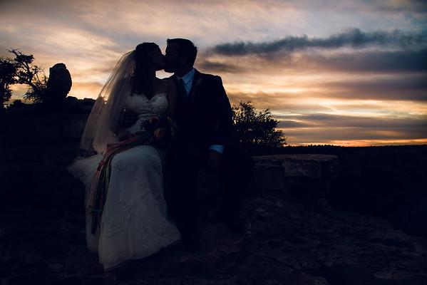 Allison and Matt   Shoshone Point   Grand Canyon Wedding