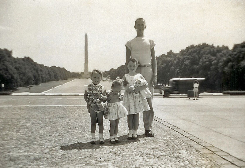 1958 Washington Mall Cousin Jim Strausbaugh, Jackie and Joy's brother.