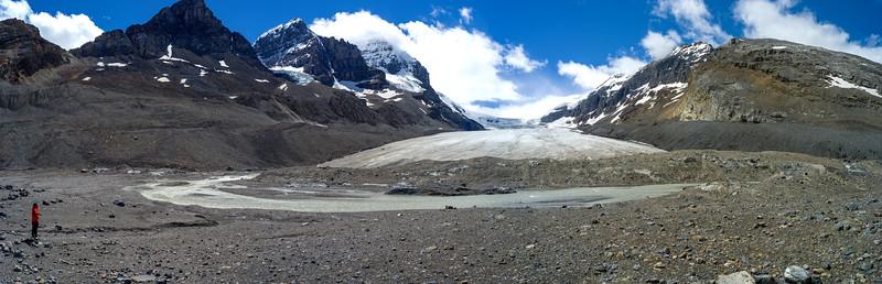 Glacier, Columbia Icefields, Icefields Parkway, Jasper, Alberta, Canada