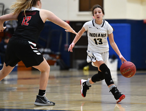 2/8/2020 Mike Orazzi | StaffrNewington's Adriana Romano (13) on Saturday morning in Newington. r