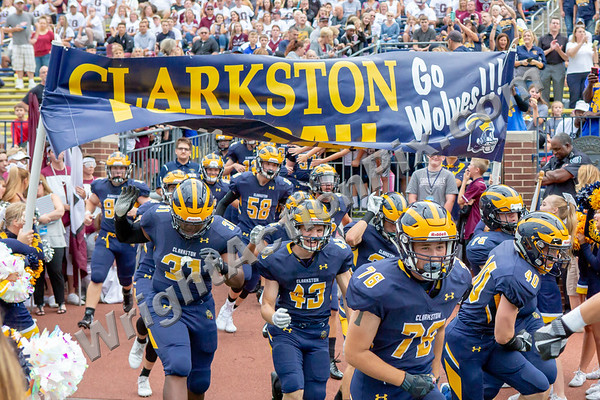 2018 08 24 Clarkston Varsity Football vs Grandville at U of M Big House