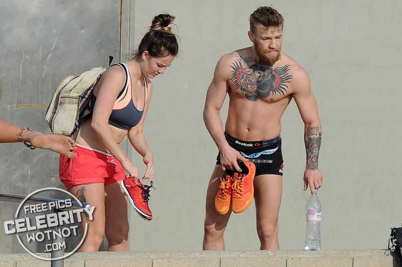 Conor McGregor Performs Incredible Balance Training On Venice Beach, California