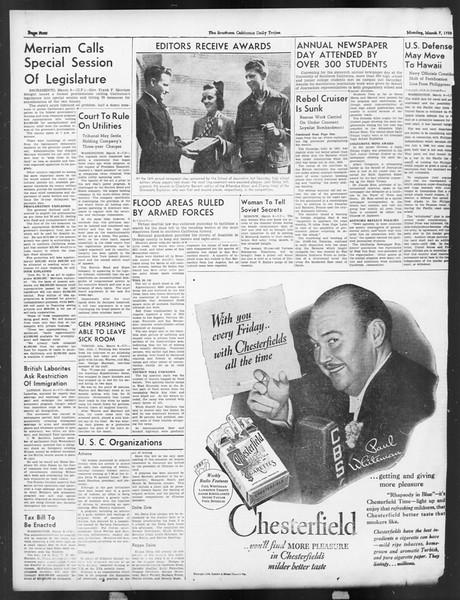 Daily Trojan, Vol. 29, No. 92, March 07, 1938