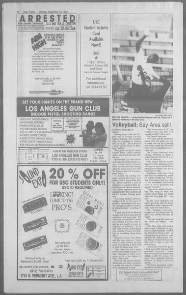 Daily Trojan, Vol. 113, No. 15, September 24, 1990