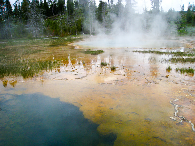 Chain Lakes and Bottomless Pit Pools at Upper Geyser Basin