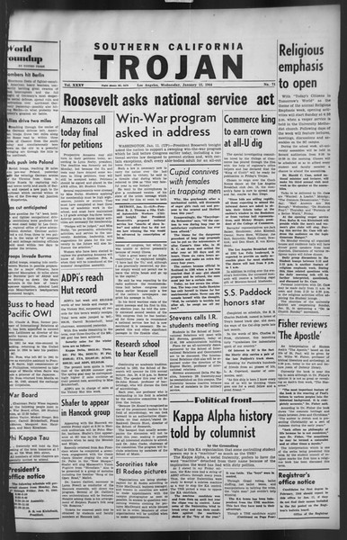 The Trojan, Vol. 35, No. 71, January 12, 1944