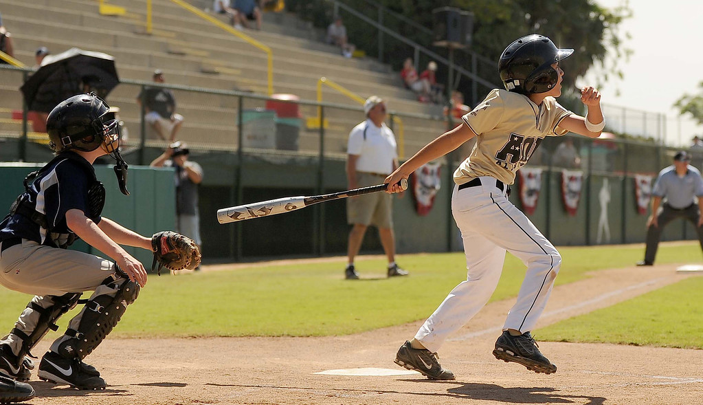 . Little League Western Regional Baseball Tournament Game 13: Alaska defeats Wyoming 11-1 Monday August 5, 2013 at Al Houghton Stadium in San Bernardino.LaFonzo Carter/ Staff Photographer