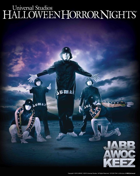 The Jabbawockeez Dance through Halloween Horror Nights 2015