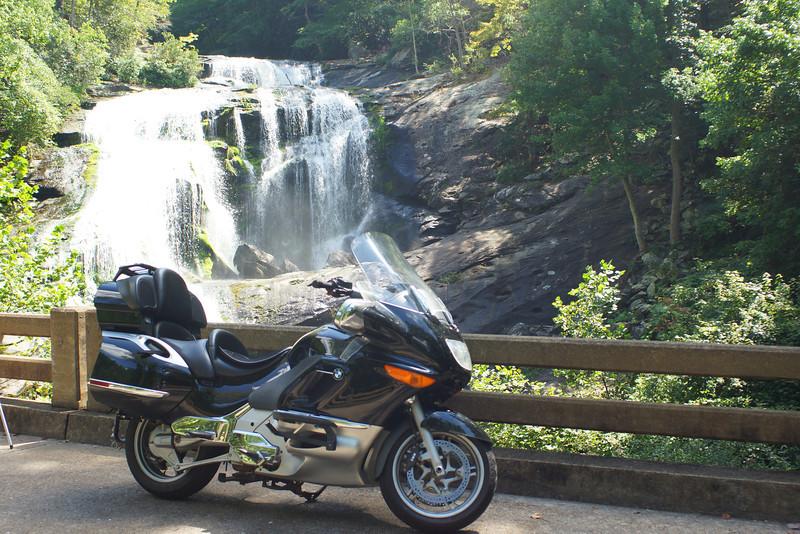 Our BMW K1200LT  Bald River Falls, Near Tellico Plains, Tennessee