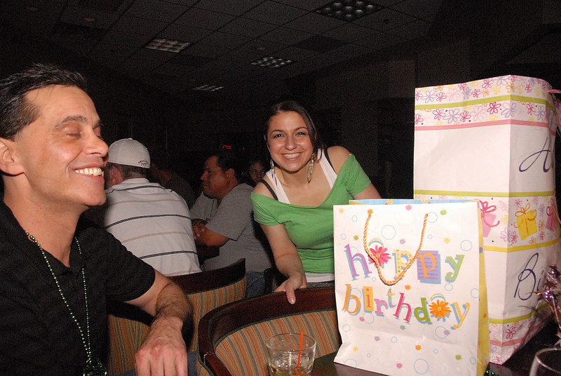 Ashley and friends gather at Russells to celebrate her recent graduation and birthday.