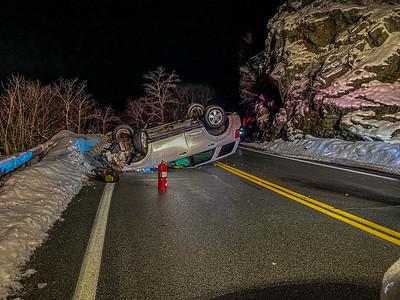2-19-2021 MVA Rollover, Bear Mt Bridge Road