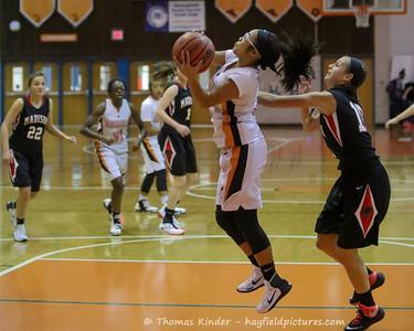 Girls JV Basketball vs Madison 12/13/16