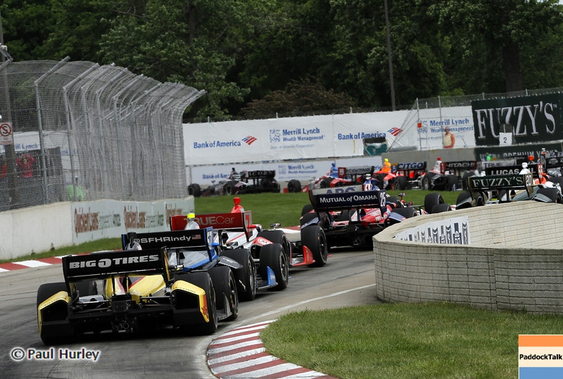 June 2: Turn one during the Chevrolet Detroit Belle Isle Grand Prix.