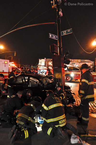3-23-12 Manhattan, NY Motor Vehicle Accident: 12th Avenue & West 34th Street