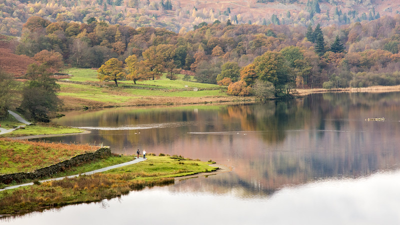 Hiking at Rydal Water