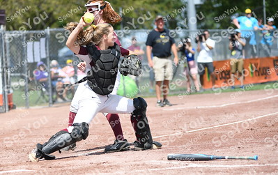 State Softball 3A Louisa-Muscatine Vs Mount Vernon
