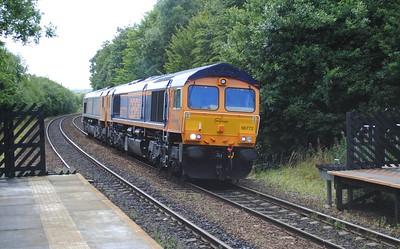 66772 + 66701 0Z71 Trafford Park to Doncaster decoy 15/8/15